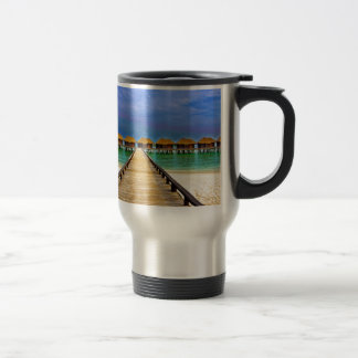 Overwater bungalows at Sheraton Maldives Travel Mug