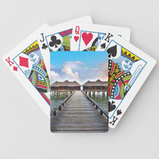 Overwater Bungalows Bicycle Playing Cards