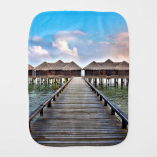 Overwater Bungalows Burp Cloth