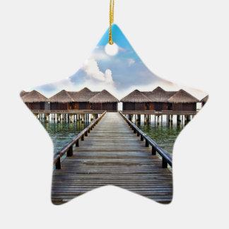 Overwater Bungalows Ceramic Ornament