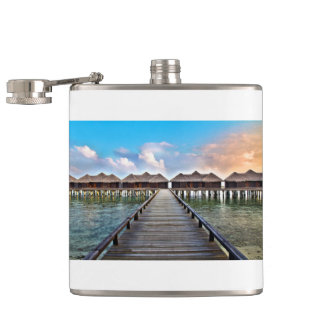 Overwater Bungalows Hip Flask