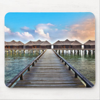 Overwater Bungalows Mouse Pad