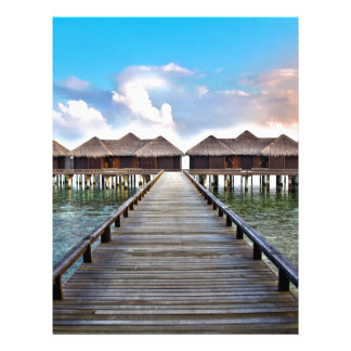 Overwater Bungalows Personalized Letterhead
