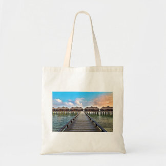 Overwater Bungalows Tote Bag
