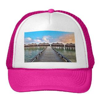 Overwater Bungalows Trucker Hat