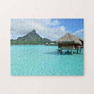 Overwater resort on Bora Bora jigsaw puzzle