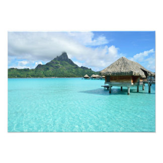 Overwater resort on Bora Bora photo print