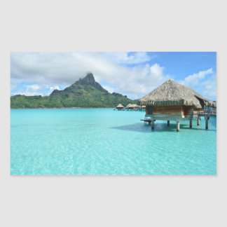 Overwater resort on Bora Bora Sticker