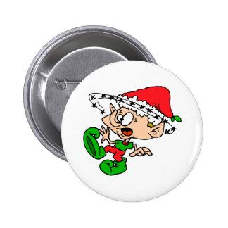 Overwhelmed Elf 2 Inch Round Button
