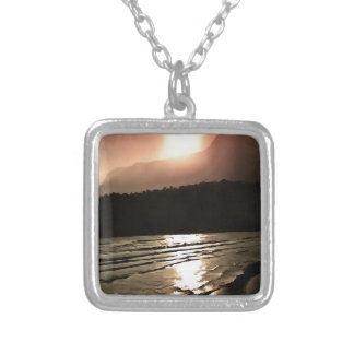 Overwhelming Waves of Sadness Silver Plated Necklace