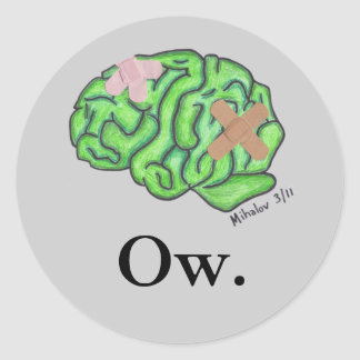 """Ow"" stickers"