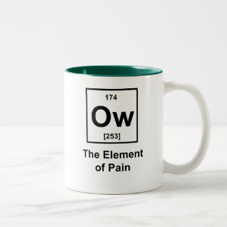 Ow, The Element of Pain Two-Tone Mug