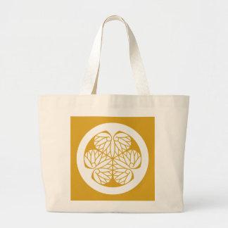 Owari hollyhock(13) large tote bag