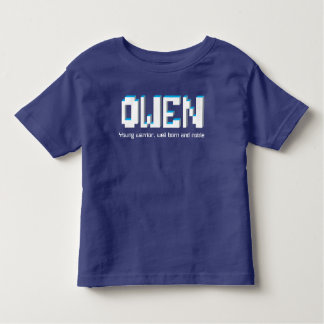 Owen boys name and meaning pixels text toddler t-shirt