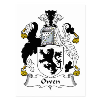 Owen Family Crest Postcard