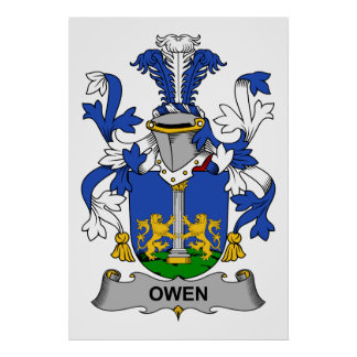 Owen Family Crest Poster