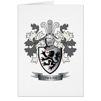 Owens Family Crest Coat of Arms Card
