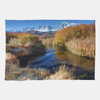 Owens River And Eastern Sierra Nevada Mountains Hand Towel