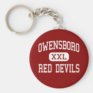 Owensboro - Red Devils - High - Owensboro Kentucky Basic Round Button Keychain