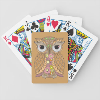 Owl 1 bicycle playing cards
