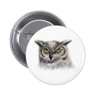 owl 2 inch round button