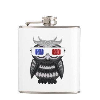 Owl - 3D Glasses Flask