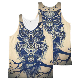Owl All-Over-Print Tank Top