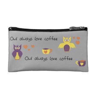 Owl Always Love Coffee Makeup Bag