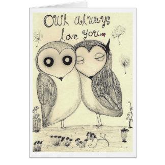 Owl Always love you 2 Card