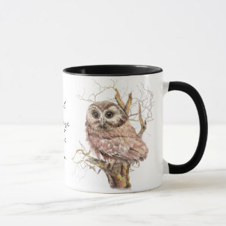 "Owl Always Love You', Cute Baby Owl, Bird"" Mug"