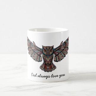 Owl always love you Mosaic Decorative Coffee Mug