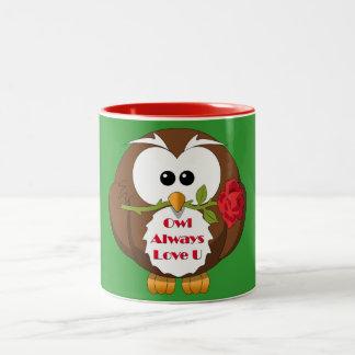 Owl Always Love You Theme Two-Tone Coffee Mug