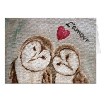 Owl always love you Valentine Card