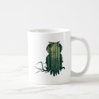 Owl and Abstract Forest Landscape2 Coffee Mug