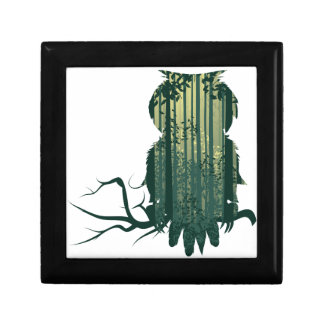 Owl and Abstract Forest Landscape2 Gift Box