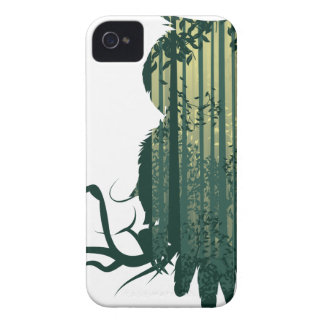 Owl and Abstract Forest Landscape2 iPhone 4 Covers