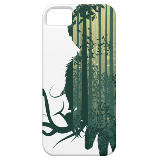Owl and Abstract Forest Landscape2 iPhone 5 Case