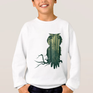 Owl and Abstract Forest Landscape2 Sweatshirt
