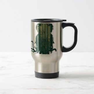 Owl and Abstract Forest Landscape2 Travel Mug