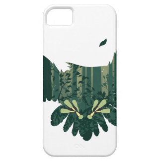 Owl and Abstract Forest Landscape Case For The iPhone 5