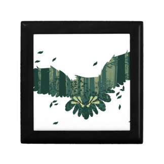 Owl and Abstract Forest Landscape Gift Box