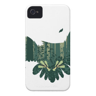 Owl and Abstract Forest Landscape iPhone 4 Covers