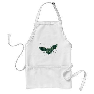 Owl and Abstract Forest Landscape Standard Apron