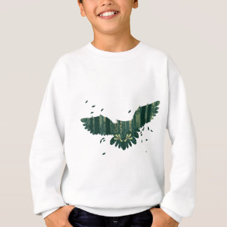 Owl and Abstract Forest Landscape Sweatshirt