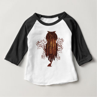 Owl and Autumn Forest Landscape2 Baby T-Shirt