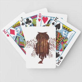 Owl and Autumn Forest Landscape2 Bicycle Playing Cards
