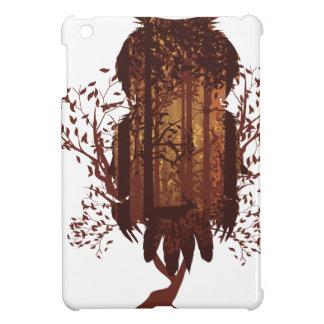 Owl and Autumn Forest Landscape2 iPad Mini Cover