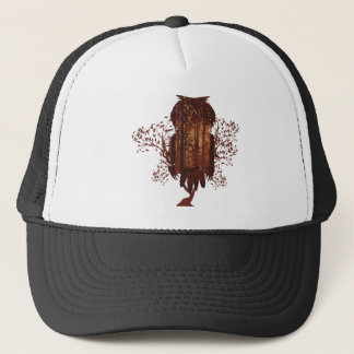 Owl and Autumn Forest Landscape2 Trucker Hat