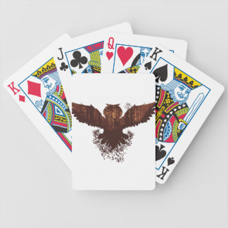 Owl and Autumn Forest Landscape Bicycle Playing Cards