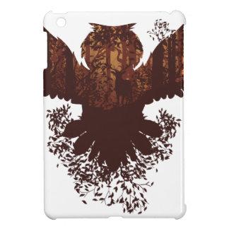 Owl and Autumn Forest Landscape iPad Mini Cases